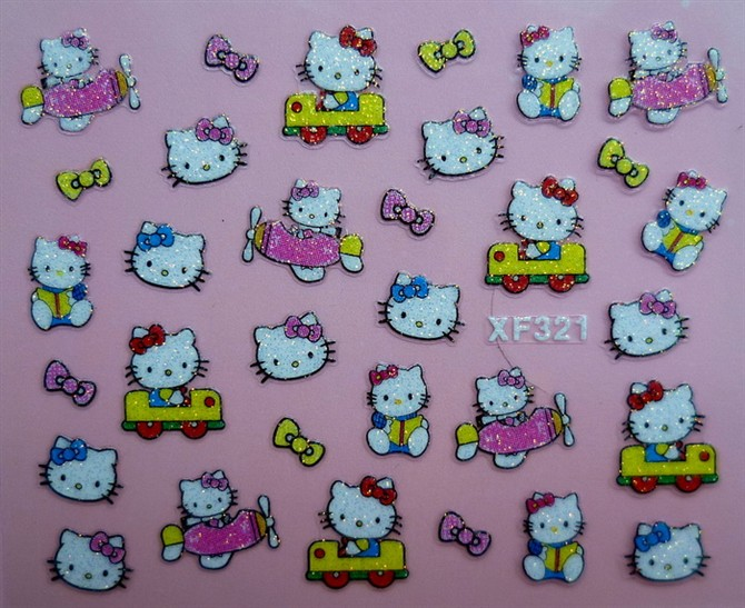 3D Nail Sticker Decal Hello Kitty designs for Nail Art & others decoration